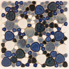 Blue Ceramic Mosaic Tiles Craft Pool Splashback Floor tiles
