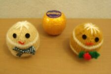 Knitting pattern Gingerbread Man Chocolate Orange Cover AND WOOL