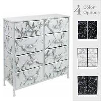 Sorbus Dresser w/ 8 Drawers - Marble Design Storage Chest Organizer Unit