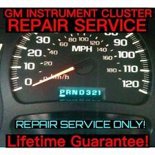 2003-06 GM GMC Sierra Yukon Speedometer Gauge Cluster FULL REPAIR SERVICE 04 05