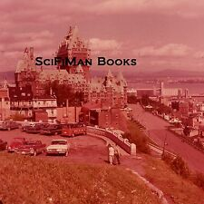 PANA-VUE 35mm Slide Canada Quebec City Chateau Frontenac Hotel Old Cars People!
