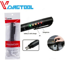 Brake Fluid Tester LED Moisture Water Compact Tool Test Indicator Pen DOT3 DOT4