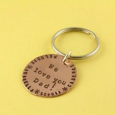 Father's Day Gift for Dad or Grandpa Personalized We Love Dad Keychain Key Chain
