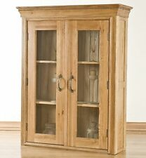 French solid oak furniture small dining room china display cabinet dresser