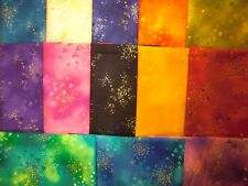 13 fat quarters Basic Glitter Laurel Burch from Clothworks cotton quilt fabric