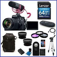 Canon EOS 70D DSLR Camera with 18-135mm Lens Video Creator Kit 64GB Pro Bundle