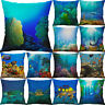 18'' Ocean Scenery Pillow Case Cotton Linen Cushion Cover Sofa Home Decor