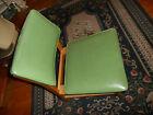 TRUE VINTAGE Danish STYLE Desk Side Chair Green Vinyl Mid Century Modern MCM