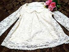 LIZ LISA Dream Prospects AXES FEMME White Flower Pattern Lace Loose Clothes