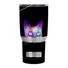 Skin Decal for RTIC 20 oz Tumbler Cup (5-piece kit) / Colorful Galaxy Space Cat