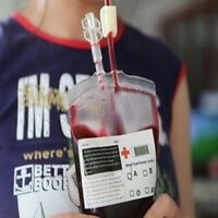 50PCS Blood Bags Halloween Party Haunted House Drink Container Decoration AU