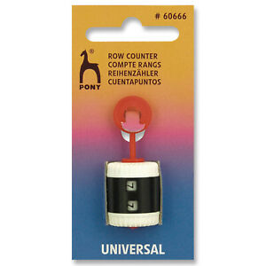 Pony Row Counter & stitch marker 2 in 1 Universal 2.00 - 10.00mm knitting needle