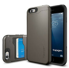 Original Spigen Protective Cover for iPhone 6 6s Card Compartment Slim Armor CS