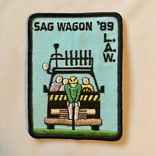 L.A.W. League Of American Wheelmen Patch - Sag Wagon 1989