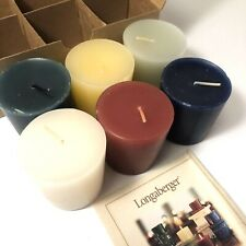 Longaberger Candles Scented Votive Sampler Set 6 Rare Consultant New Nib 90368