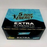 5 Hour Energy Shot Blue Raspberry Extra Strength 1.93 oz Bottles 12 Count Box