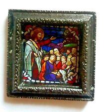 Maison de poupées miniature verre bombé religieux photos et croix