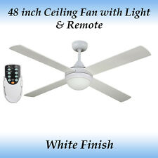 Fias Revolve 48 inch Ceiling fan in White Finish with Light and Remote