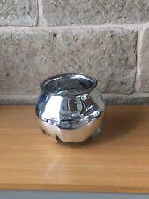 Round silver mirrored bowl / vase