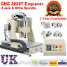 CNC ROUTER 3020 4 AXIS ENGRAVER DRILLING MILLING CUTTING MACHINE 0.8KW MACH3