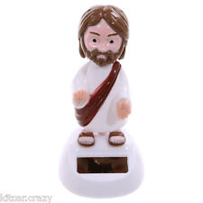 NOVELTY SOLAR POWERED DANCING /  WAVING JESUS, DASHBOARD TOY, HOME OR CAR