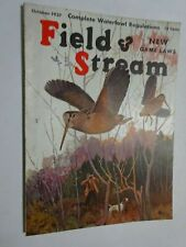 1937 Field & Stream Magazine October Woodcock Hunting