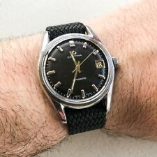 VINTAGE CERTINA DS AUTOMATIC BLACK DIAL MENS WATCH Cal. 25-651