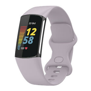 Silicone Replacement Strap Band Wristband For Fitbit Charge 5 Smart Watch S/L