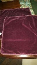 """Pottery Barn Nwt Velvet Fringe 22"""" Pillow Covers (2) Pair Madeira Color"""
