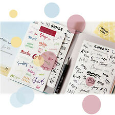 Set of 8 Sheets Deco Craft Words Stickers Diary Paper Sticker Scrapbook Gift·
