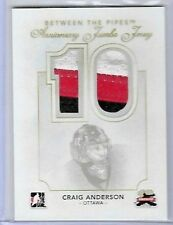 2011-12 BETWEEN THE PIPES ANNIVERSARY JUMBO JERSEYS #AJJ-01 CRAIG ANDERSON 1/10