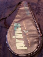 Prince Triple Threat Graphite Oversize Tennis Bag Leather Carrying Case
