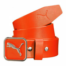 Puma Golf Youth Square Fitted Leather Belt -Color Orange -Select Size