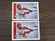 2002 Upper Deck Happy Holidays Card 2 card Lot Mark McGwire St Louis Cardinals
