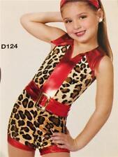 Dance Costume Jazz Tap Animal Print romper Demand