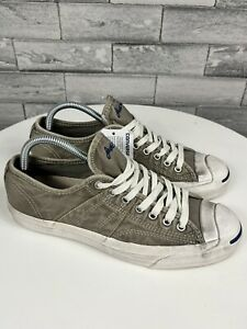Converse JACK PURCELL Shoes Men's Sz 8.5 Vintage Wash Khaki Distressed NWOB