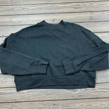 forever 21 womens small long sleeve cropped sweater dark gray