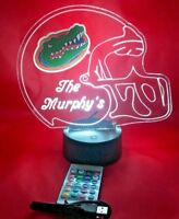 Florida Gators NCAA College Football Light Up Lamp LED Remote Personalized Free
