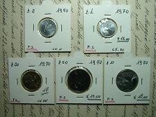 1970   Repubblica Italiana   1-2-10-20-50   lire  FDC da divisionale