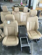 FORD F250 F350 FRONT & REAR SEAT SET TAN LEATHER HEATED COOLED 11 12 13 14 15 16