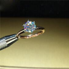 Moissanite Diamond Wedding Ring D color Vvs 100% 18K 750Au White Yellow Gold 1Ct