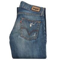 Levi's Eve Womens Square Cut Straight Leg Jeans Low RIse Denim Pant Size 27x34