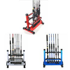 12 Slots Fishing Rods Rack Stand Alloy Metallic Holder Storage Tackle Outdoor