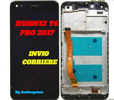 DISPLAY+TOUCH SCREEN+FRAME COVER HUAWEI Y6 PRO 2017 SLA-L02 L22 TL00 NERO VETRO