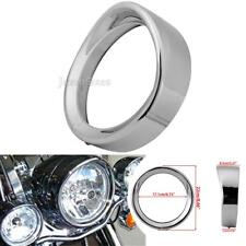 "7"" Visor headlight Head Lamp Trim Ring For Harley Touring Softail Jeep Wrangler"