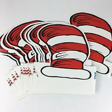Dr Seuss Party Supplies Cat In The Hat Birthday Party Hats Thank You Notes