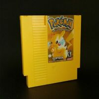 Pokemon 72 pin 8 bit Game Cartridge NES Yellow