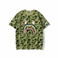 Men's BAPE A Bathing APE Round Neck Ink Camouflage T-Shirt Short Sleeve Tee Tops