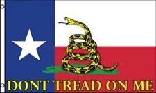 2 Flags- Texas Gadsden Poly Flag 3'x5' Don't Tread on Me Tea Party Rattlesnake