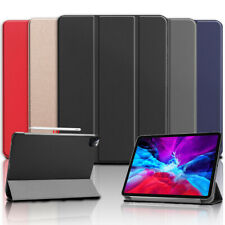 For iPad Pro 12.9 2020 4th Generation Folding Stand PU Leather Smart Case Cover